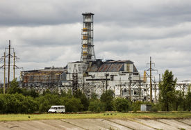picture of reactor  - A view from the backside of Chernobyl - JPG