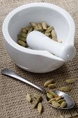 Mortar And Pestle With Cardamom