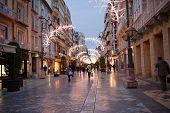 Christmas Time In Cartagena , Pedestrian Street Calle Carmen, Spain