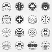 Gentlemen's club vector emblems and logos
