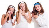 Teenager Girls Primping