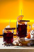 Mulled Wine With Spices And Fruits