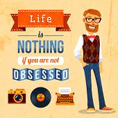Hipster Culture Poster