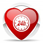 24h valentine icon