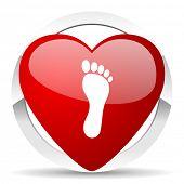 foot valentine icon