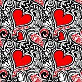 Love Valentine seamless pattern