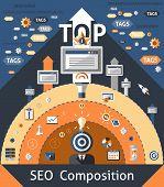 Seo Composition Illustration