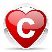 copyright valentine icon