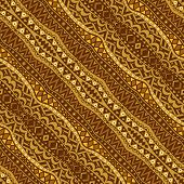 Golden Diagonal Ethnic Seamless Pattern