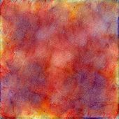 Yellow, Red, Purple And  Pink Watercolor Background