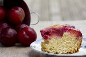 Slice of Plum Cake - Horizontal