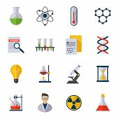 Chemistry Icons Flat