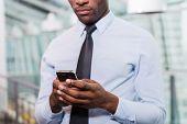Businessman Typing Message.