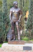statue of soviet singer, songwriter, poet and actor Vladimir Vysotsky in Sochi