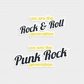 rock and roll punk sticker