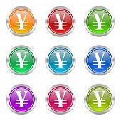 yen icons set
