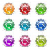 puzzle icons set