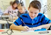 stock photo of person writing  - education - JPG