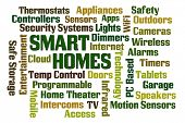 image of home theater  - Smart Homes word cloud on white background - JPG