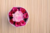 Artificial Roses In Bowl