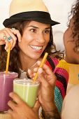 Women Talking Over Smoothies