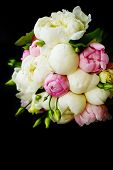 Wedding Bouquet Of Ranunculus And Peony