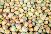 image of prickly-pear  - Prickly pears on the market in Rabat Morocco - JPG