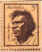 Albert Namatjira on Australian stamp.