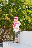 Cute Little Girl For A Walk