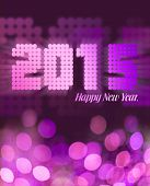 Happy New year 2015 in pink glitter