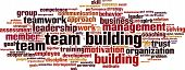stock photo of goal setting  - Team building word cloud concept - JPG