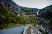 Trollstigen - mountain road in Norway