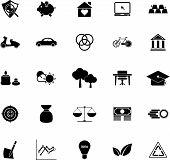 Sufficient Economy Icons On White Background