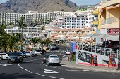 Av. Maritima In Puerto De Santiago, Tenerife, Canary Islands, Spain.