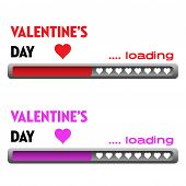 Valentine loading bars