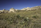 stock photo of nebraska  - Scotts Bluff National Monument is located in western Nebraska - JPG