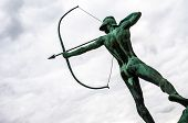 image of archer  - famous monument of the archer in Dresden - JPG