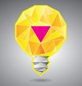 Light bulb with magenta accent