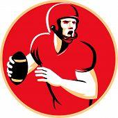 American Quarterback Football Player Passing Circle