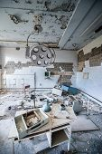 picture of nuclear disaster  - operating room in No - JPG