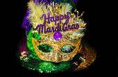 Happy Mardi Gras Mask