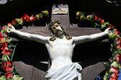 ZAGORJE, CROATIA - SEPTEMBER 24: Roadside Crucifix in Zagorje region, Croatia on September 24, 2014.