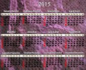 Calendar For 2015 Year In English And French