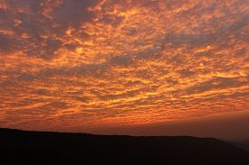 stock photo of deo  - bueatiful silhouette sunrise at PA DEO - JPG