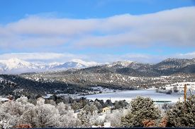 picture of blanket snow  - A snow blanket cover the La Plata Mountains in Durango, CO