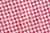 Постер, плакат: Red Linen Crumpled Picnic Blanket