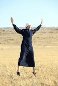 image of arab man  - Arabic young man in nature - JPG