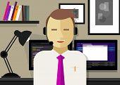 image of customer relationship management  - call center crm customer relationship management icon - JPG