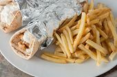 pic of souvlaki  - traditional greek food - JPG