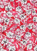 stock photo of interpreter  - seamless abstract floral pattern design - JPG